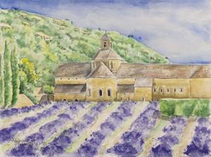 Lavender at Senanque Abbey w:c