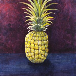 Pineapple with blue and purple